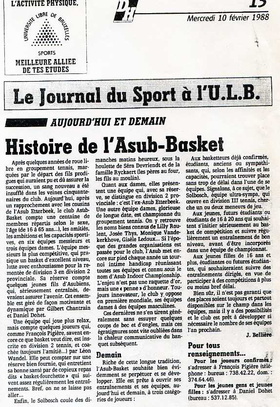 Asub journal 1988 hist asub146