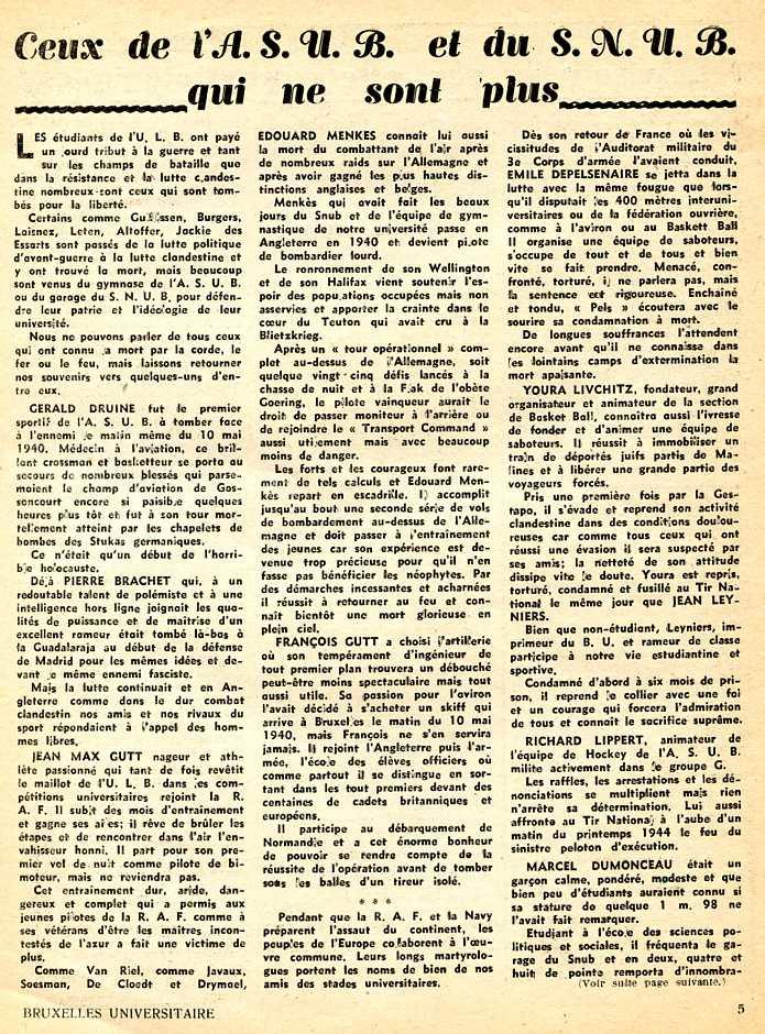journal bxl universitaire morts153